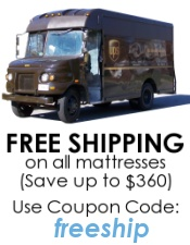 Free shipping on mattresses: enter coupon code 'freeship'