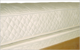 Innerspring mattress close-up